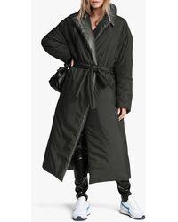 Rag & Bone M42 Rikki Puffer Nylon Trench Classic Fit Coat - Black