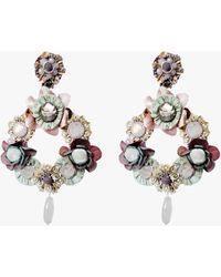 Ranjana Khan Floriana Clip-on Earrings - Multicolor