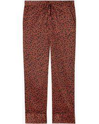 Les Girls, Les Boys Women's Animal Print Boys Pj Pants - Red