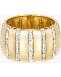 Adina Reyter - Diamond Stripe Barrel Ring - Lyst