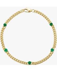 Jemma Wynne Small Curb Link Bracelet - Green