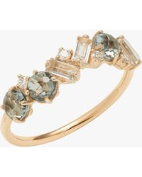 KALAN by Suzanne Kalan - Topaz And Amethyst Baguette Ring - Lyst