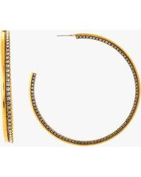 Erickson Beamon - Breaker Of Chains Hoop Earrings - Lyst