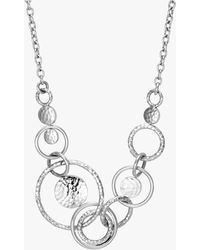 John Hardy - Dot Hammered Silver Multi Link Necklace - Lyst