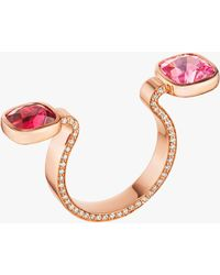 Mimi So Spinel Between-the-finger Ring - Pink