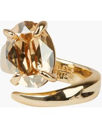 Alexis Bittar Crystal Capped Wrap Ring - Metallic