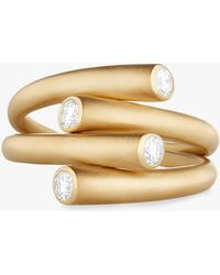 Carelle - Whirl Duo Diamond Ring - Lyst