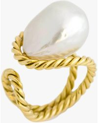 Haute Victoire - Baroque Pearl Ring - Lyst