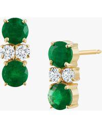 Jemma Wynne Privé Double Studs - Green