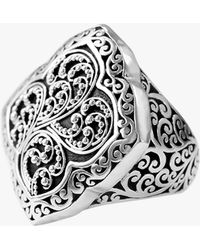 Lois Hill - Scroll Work Statement Ring In Sterling Silver - Lyst