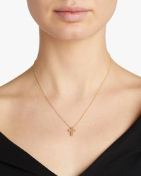 Roberto Coin Princess-cut Cross Pendant Necklace - Metallic
