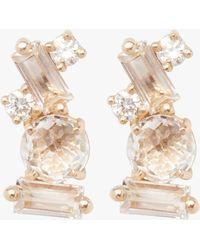 KALAN by Suzanne Kalan - Baguette White Topaz Stud Earrings - Lyst
