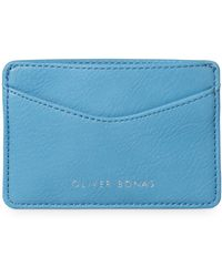 Oliver Bonas - Fleur Blue Card Holder - Lyst