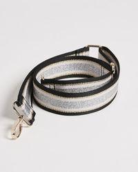 Oliver Bonas Mixed Metallic Stripe Bag Strap