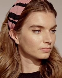 Oliver Bonas Cassia Striped Pink Knotted Headband