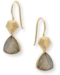 Oliver Bonas - Estepa Triangular Stone Earrings - Lyst