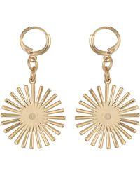 Oliver Bonas Apollo Starburst Huggie Drop Earrings - Metallic