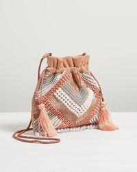 Oliver Bonas Deco Sequin Pink Clutch Bag