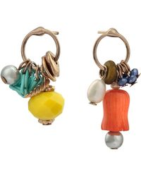 Oliver Bonas Koa Mismatched Beaded Drop Earrings - Multicolour