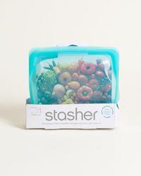 Oliver Bonas Stasher Blue Reusable Stand Up Bag