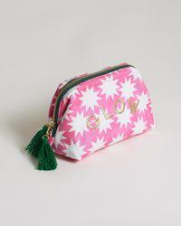 Oliver Bonas Enlightenment Glow Pink Makeup Bag
