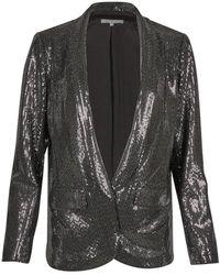 Oliver Bonas Sequin Long Sleeve Blazer - Black