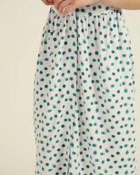 Oliver Bonas Calming Green Spot Fit & Flare Midi Dress