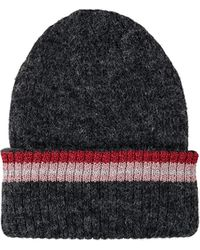 e81c364077e HUGO Wool Beanie Hat With 3d Reverse-logo Embroidery in Blue - Lyst