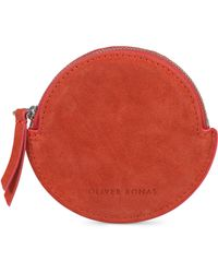 Oliver Bonas - Belle Circle Suede Leather Pouch - Lyst