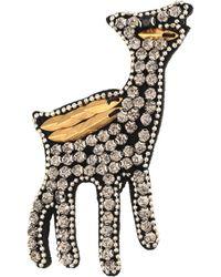 Oliver Bonas - Lana The Llama Sparkle Embroidered Brooch - Lyst