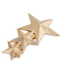 Oliver Bonas Galexia Triple Star Barrette Hair Clip - Metallic