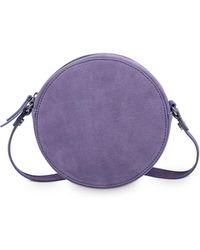 Oliver Bonas - Belle Circle Purple Leather Cross Body Bag - Lyst