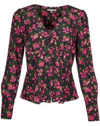 Oliver Bonas Ditsy Floral Print Pink & Shirt - Black