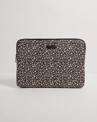 "Oliver Bonas Leopard Print Laptop Case 13"" - Black"