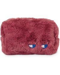 Oliver Bonas - Faux Fur Eyes Make Up Bag - Lyst