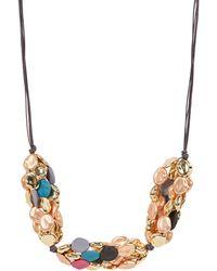 Oliver Bonas - Colson Multi Beaded Collar Necklace - Lyst
