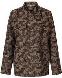 Oliver Bonas Palm Jacquard Khaki Jacket - Green