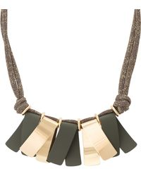 Oliver Bonas - Mariana Folded Fan Cord Necklace - Lyst