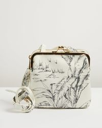 Oliver Bonas Toile De Jouy White Crossbody Bag