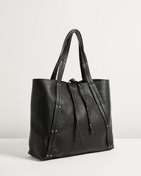 Oliver Bonas Lyric Studded Black Tote Bag
