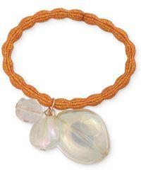 Oliver Bonas Jeweled Orange Hair Elastic