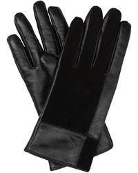 Oliver Bonas Square Black Suede & Leather Gloves