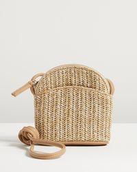 Oliver Bonas Delanie Weave Brown Crossbody Bag
