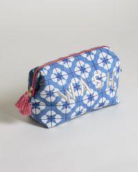 Oliver Bonas Enlightenment Blue Wash Bag