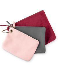 Oliver Bonas - Wren Triple Pink Pouch Set Of Three - Lyst