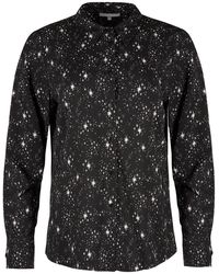 Oliver Bonas Star Print Long Sleeve Shirt - Black