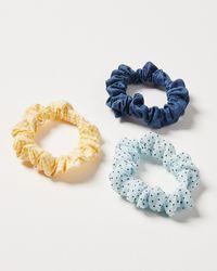 Oliver Bonas Arley Hair Scrunchie Pack Of Three - Multicolour