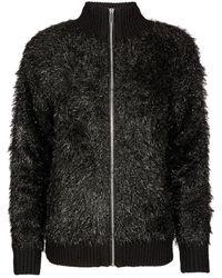 Oliver Bonas Tinsel Yarn Knitted Jacket - Black