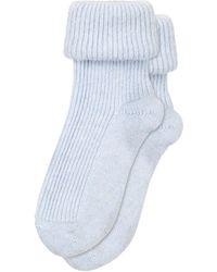 Oliver Bonas Cashmere Blend Blue Knitted Bed Socks