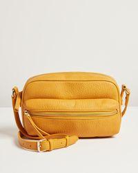 Oliver Bonas Kiara Yellow Camera Crossbody Bag